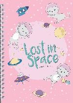 Ежедневник Lost in space (Кошки в космосе) А5, твердая обложка, 192 стр
