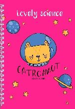 Ежедневник Catronaut (розовый) А5, твердая обложка, 192 стр