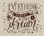 Everything starts with a dream. Скетчпад (230х180мм, офсет 160 гр., 40 страниц, евроспираль)