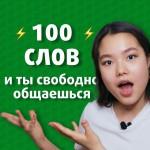 100 слов на английском для начинающих