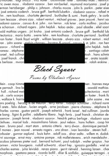 Black Square. Alphabet Poems