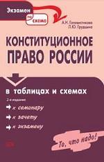 Конституционное право России в таблицах и схемах