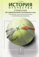 История Отечества: справочник для старшеклассников и поступающих в вузы