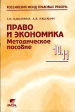 Право и экономика. Методика, 10-11 класс