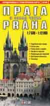 Карта автодор. и туристич. Прага и запад Чехии