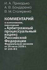 Комментарий к изменениям, внесенным в Арбитражный процессуальный кодекс Российской Федерации Федеральным законом от 19 июля 2009 г. №205-ФЗ