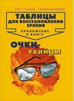Скачать Таблицы для восстановления зрения. Приложение к книге Очки-убийцы бесплатно О.П. Панков