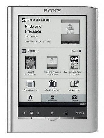 Sony Reader PRS-350 (серебристая)