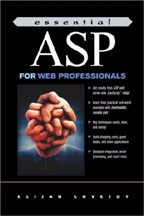 Essential Asp for Web Professionals. На английском языке