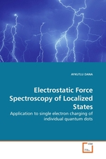 Electrostatic Force Spectroscopy of Localized States. Application to single electron charging of individual quantum dots